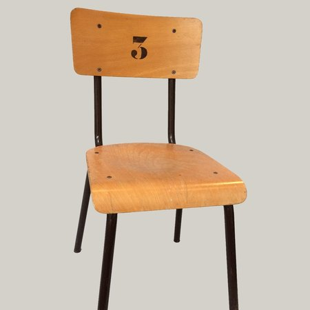 Vintage chair with number 3