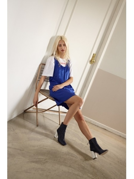 MOONTAN Chain Dress - Blue