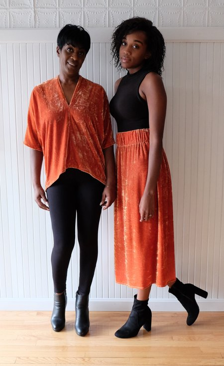 Miranda Bennett Paperbag Velvet Skirt - Anais
