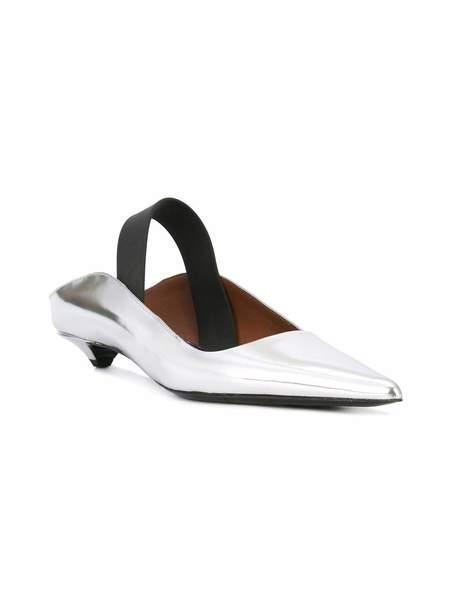 Proenza Schouler Pointed Toe Flat - Silver