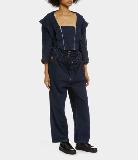 Unisex Vivienne Westwood Metal Jacket - Blue Denim