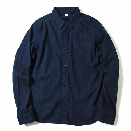 Pure Blue Japan Sashiko Button Up Shirt - Indigo
