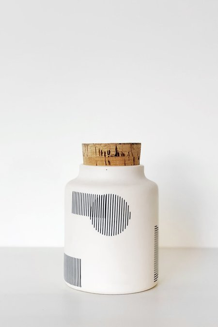 The Granite Seed Jar - Black Shapes