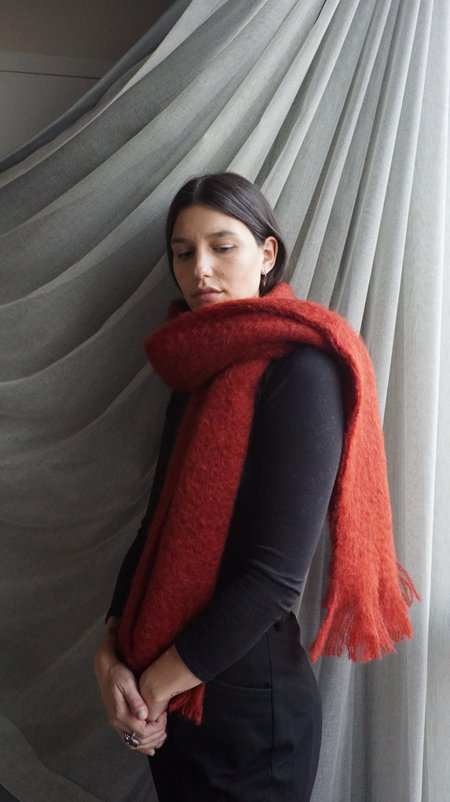 UNIFORME Mohair Muffler - Terra Rossa