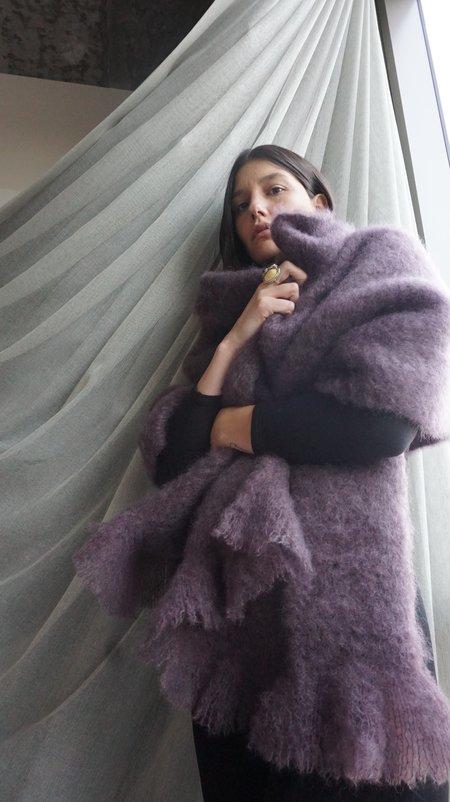 UNIFORME Mohair Shawl - Dusty Aubergine