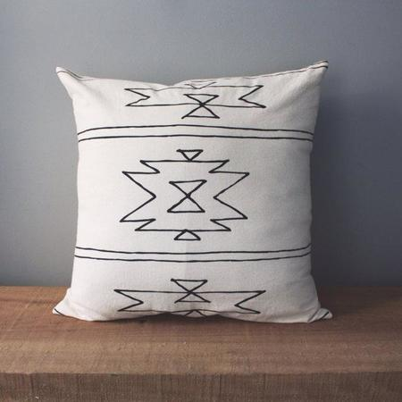 Little Korboose New Mexico Organic Cotton Pillow - White