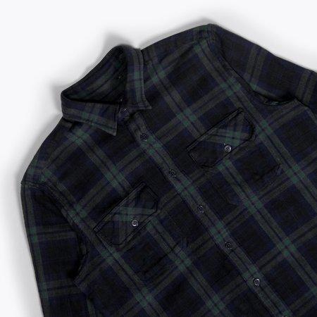 Unis Toby Shirt - Navy/Green Plaid