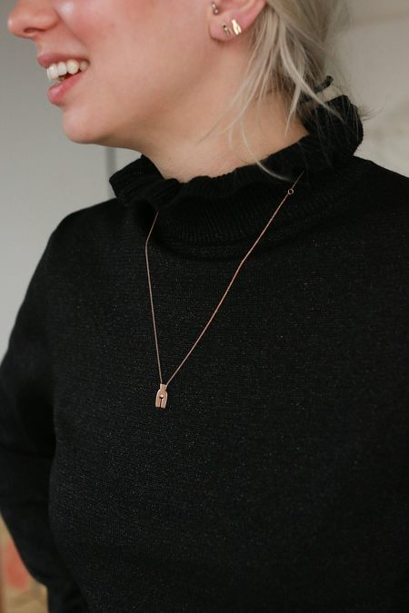 Ideal Woman Susan Necklace - Rose Gold/Diamond