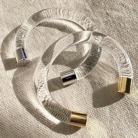 Lady Grey Mirage Lucite Bracelet - Gold