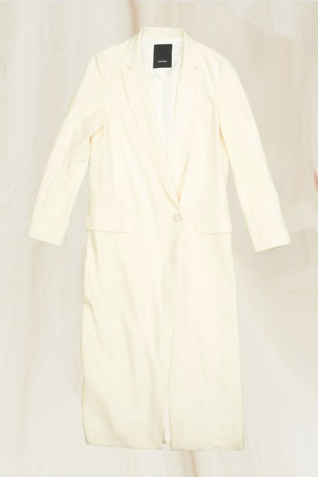 Assembly New York Wool Long Coat - Cream
