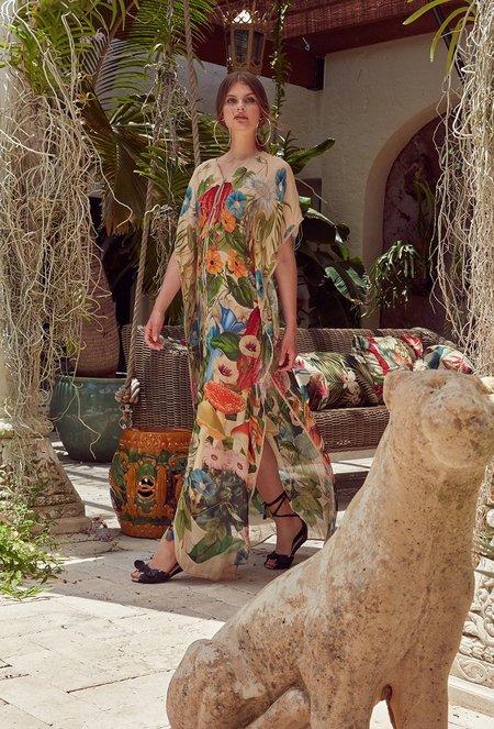 Carolina K Riley Kaftan - Sacred Plants Multi