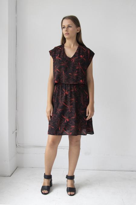 Eve Gravel After Midnight Dress - Red Fleur