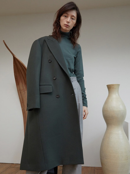 H8 Laneth Wool Coat - Dusty Green