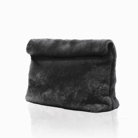 Marie Turnor The Lunch - Charcoal Fur Shearling