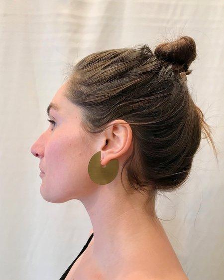 Fay Andrada Ahnka Earrings - brass