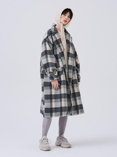 Another A Double Coat - Mint Check
