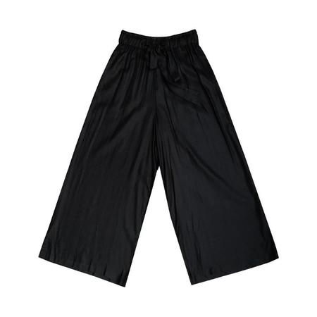 Ali Golden Drawstring Pants - BLACK
