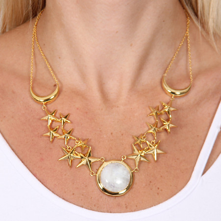 Pamela Love Moon Age Dream Necklace