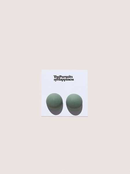 The Pursuits of Happiness Big Bump Earrings - Celadon