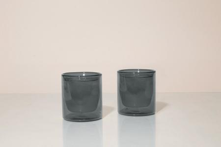 Yield Double-Wall 6oz Glasses (Set of 2) - GREY