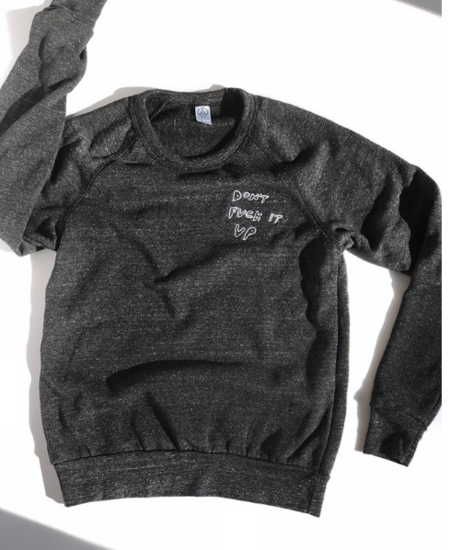 Prism Seattle JUST DON'T DO IT Embroidered Sweatshirt - CHARCOAL