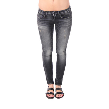R13 Kate Crop Denim- Orion Black