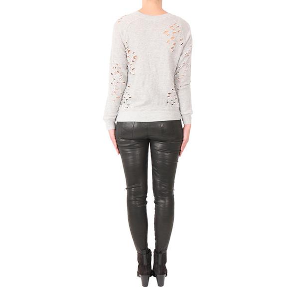 R13 Shredded Side Zip Sweater