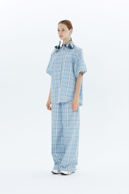 Ports 1961 Long Sleeve Shirt PW118HSL91 FSEC003 - White/Azure