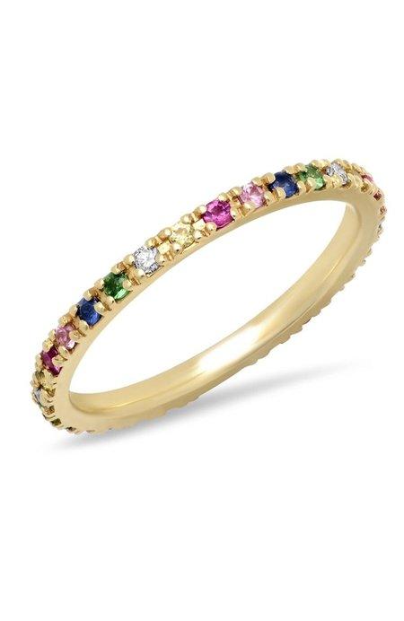 Shain Leyton Gold Rainbow Eternity Band Ring