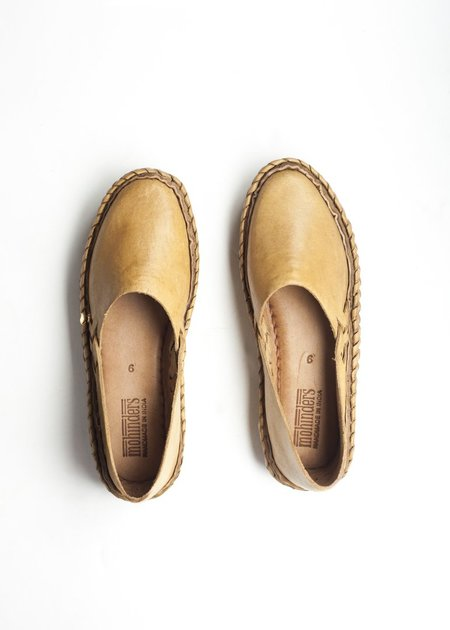 Mohinders Solid Leather Flats - natural