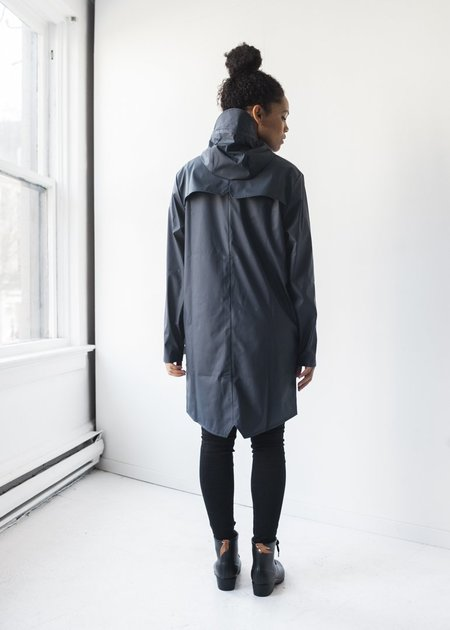 Unisex Rains Long Jacket in Blue