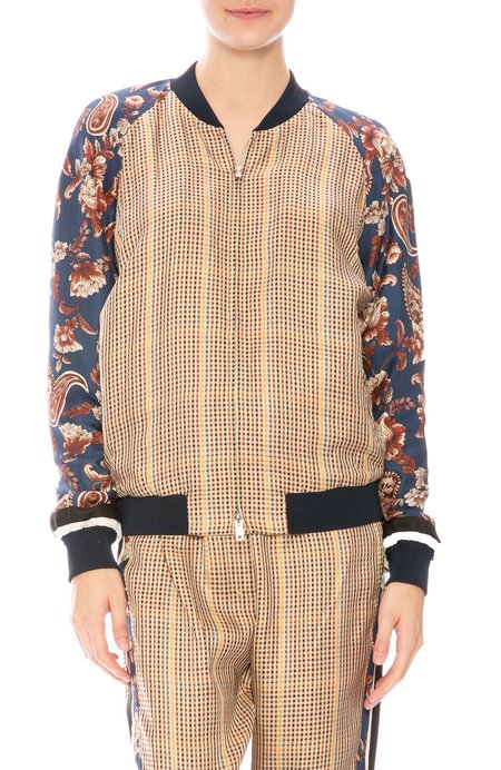3.1 Phillip Lim Bomber Jacket - Checkered Floral