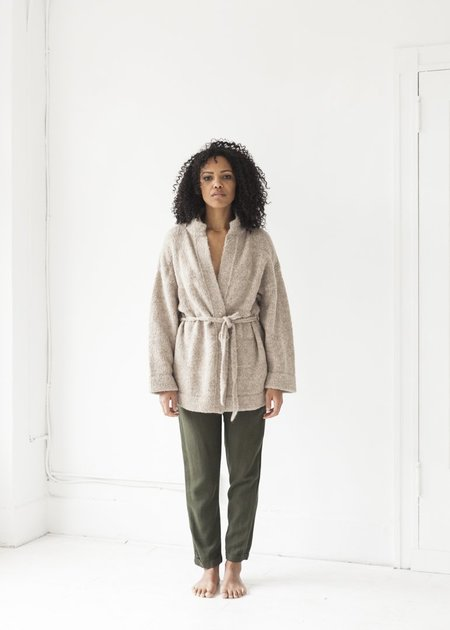 Wol Hide Quilted Cardigan - Dune