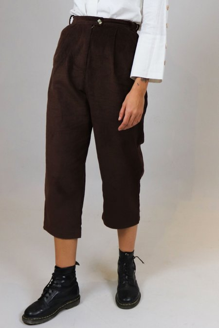 House of Sunny Corduroy High-Waisted Pants - Brown