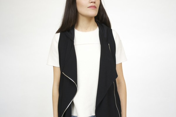 Red 23 Hooded Asymetrical Vest