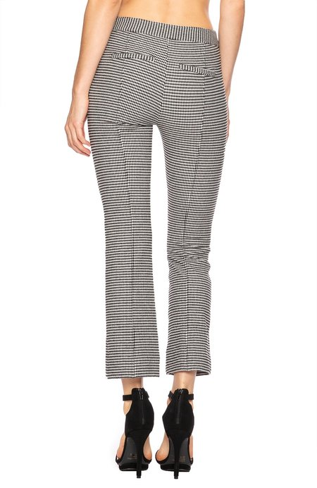 Derek Lam 10 Crosby Cropped Flare Trouser With Tab Details - Black/White