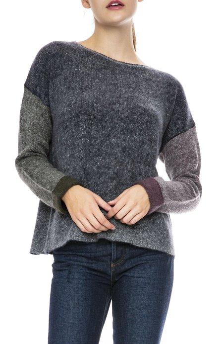 Autumn Cashmere Cuffed Colorblock Sweater