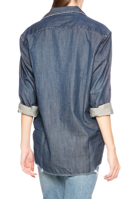 Frank & Eileen Eileen Stonewashed Button Down Shirt - Raw Rinse Denim