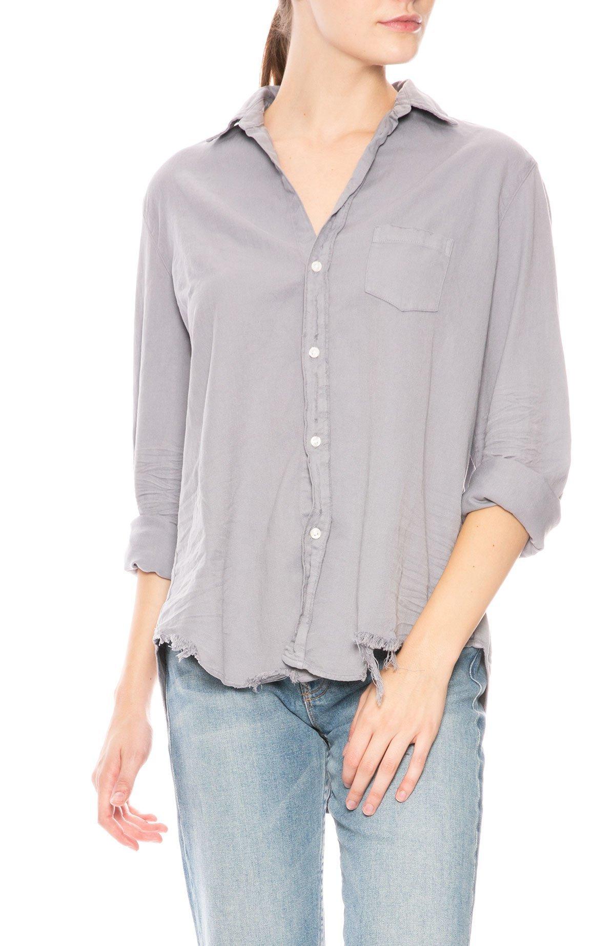 Frank Eileen Eileen Stonewashed Button Down Shirt Overcast Denim