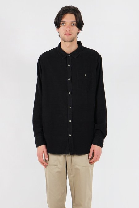 Rollas Men At Work Cord Shirt - Black