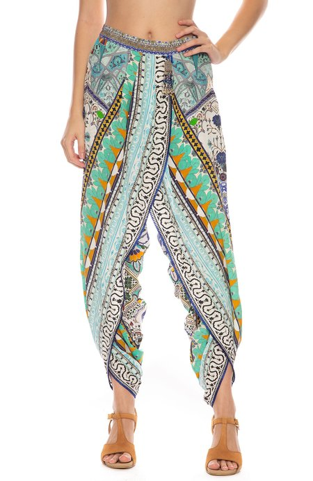 CAMILLA Wrap Front Trouser - EVERLASTING UDAIPUR
