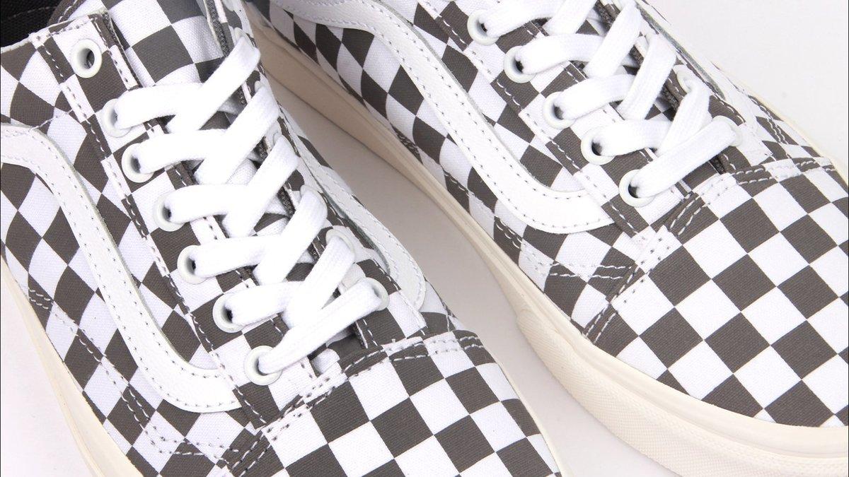 0b6f350e76 Vans Old Skool Checkerboard Shoe - Pewter Marshmellow
