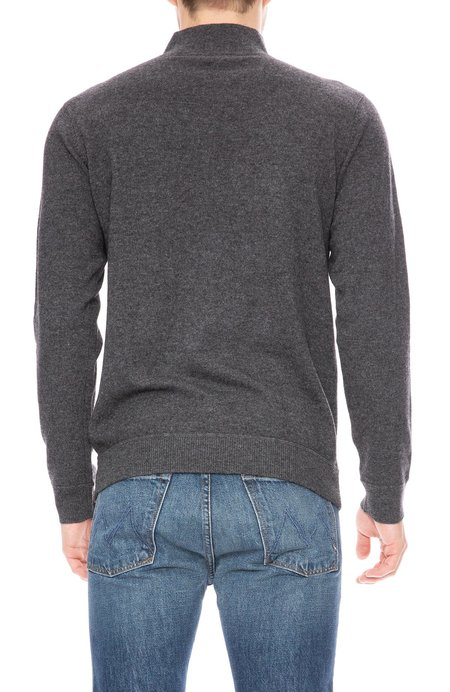Ron Herman Cashmere Mock Neck Sweater - Charcoal