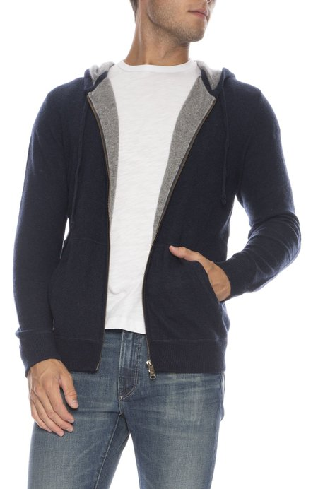 TODAY IS BEAUTIFUL x RON HERMAN Exclusive Contrast Cashmere Zip-Up