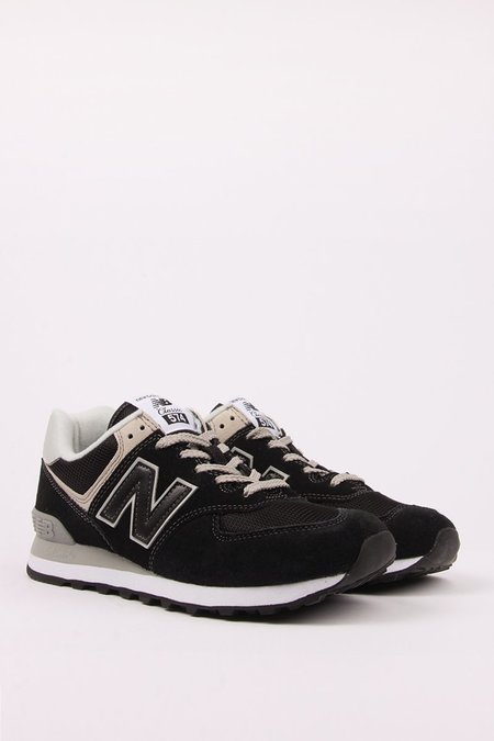 New Balance 574 Classic Shoes - black/grey suede