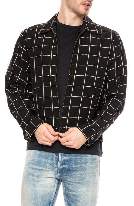 Hope Fifty Grid Check Boxy Shirt Jacket - Gold Check