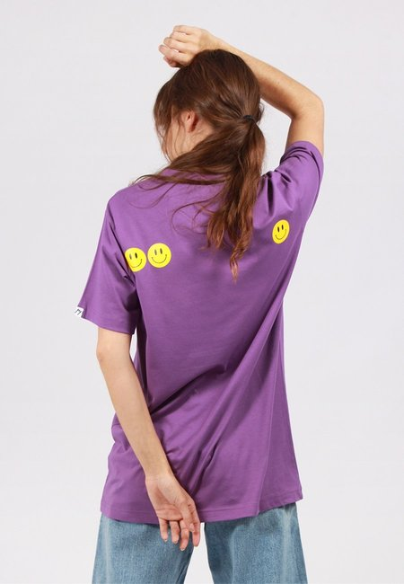 Unisex GOOD AS GOLD Smiley T-Shirt - Purple