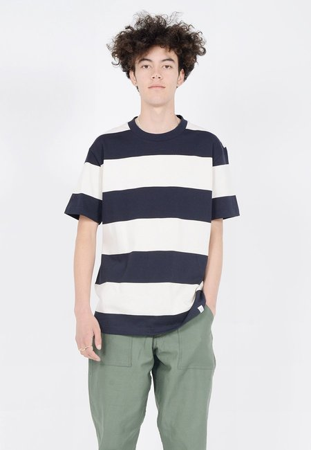 Norse Projects Johannes Border T-Shirt - Dark Navy