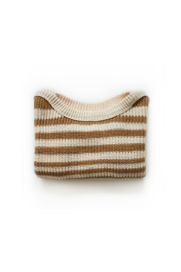 Rust Striped Pullover