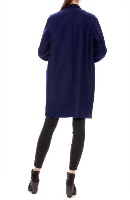 Harris Wharf Pressed Wool Cocoon Coat